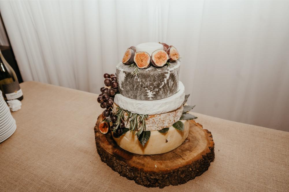 Cheese Cake Tower Stack Literary Wedding Naomi Jane Photography