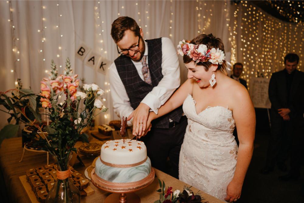 Bake Off Cake Dessert Table Literary Wedding Naomi Jane Photography