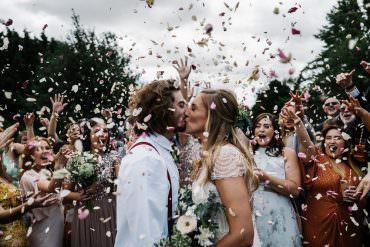 Lodge Farm Wedding David Boynton Wedding Photography Confetti