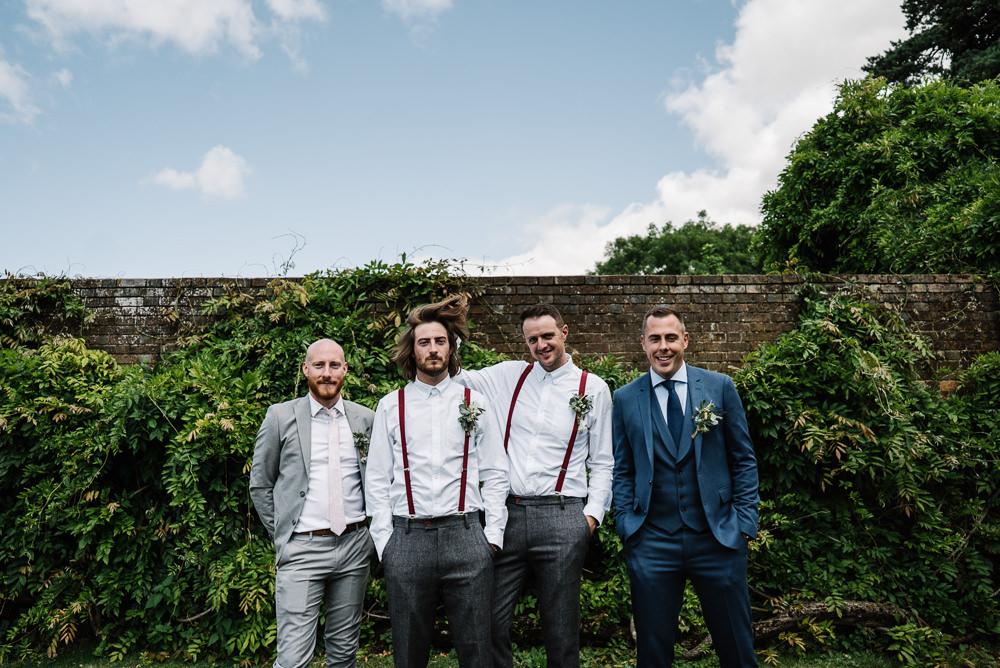 Groom Suit Shirt Braces Buttonhole Groomsmen Lodge Farm Wedding David Boynton Wedding Photography