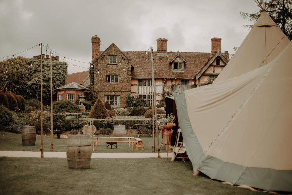 Festoon Lights Suspended Hanging Decor Magical Tipi Wedding Esme Whiteside Photography