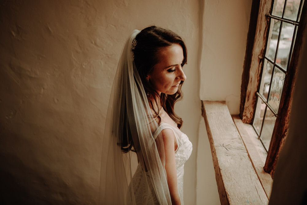 Dress Gown Bride Bridal Made With Love Bridal Train Veil Magical Tipi Wedding Esme Whiteside Photography