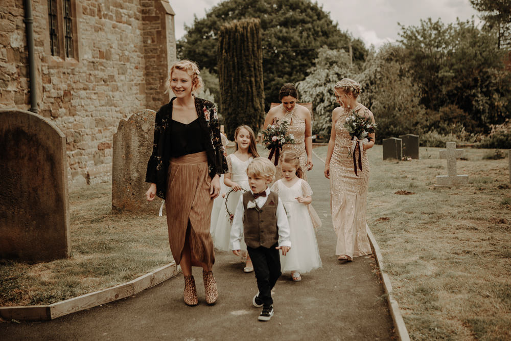 Flower Girls Page Boy Magical Tipi Wedding Esme Whiteside Photography