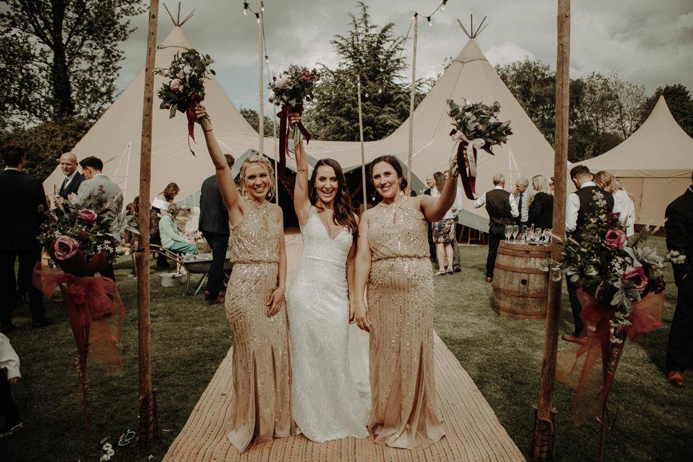 Bridesmaids Bridesmaid Dress Dresses Gold Magical Tipi Wedding Esme Whiteside Photography