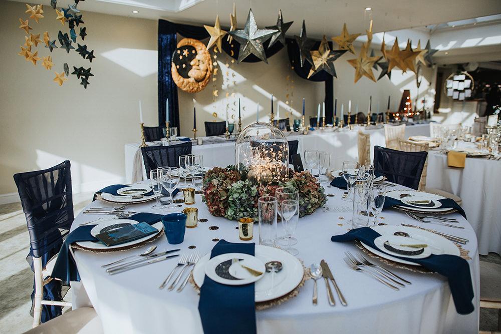 Moon Stars Wedding Ideas In Classic Blue Gold