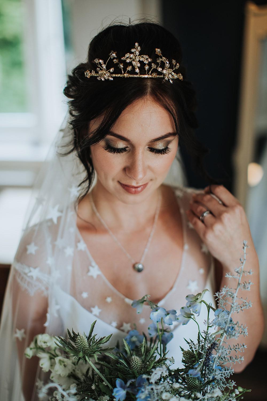 Bride Bridal Make Up Hair Accessory Celestial Moon Stars Wedding Ideas Olegs Samsonovs Photography