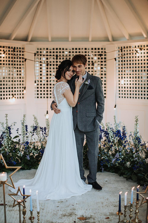 Meadow Flowers Backdrop Blue Wildflowers Moon Stars Wedding Ideas Olegs Samsonovs Photography