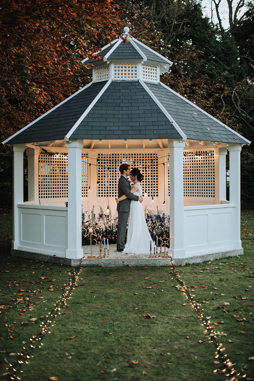Gazeebo Outdoor Ceremony Moon Stars Wedding Ideas Olegs Samsonovs Photography