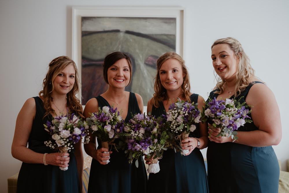 Bridesmaids Bridesmaid Dress Dresses Teal Green North Cornwall Wedding Taylor-Hughes Photography