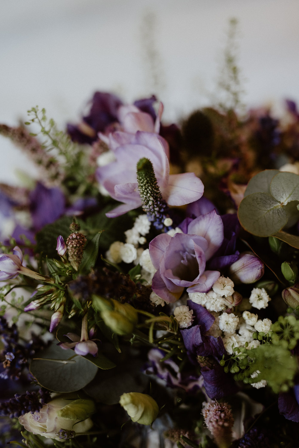Flowers Bouquet Bride Bridal Purple Lilac North Cornwall Wedding Taylor-Hughes Photography