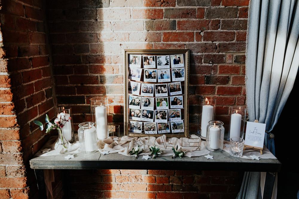 Photo Photographs Display Frame Shustoke Barn Wedding Oxi Photography