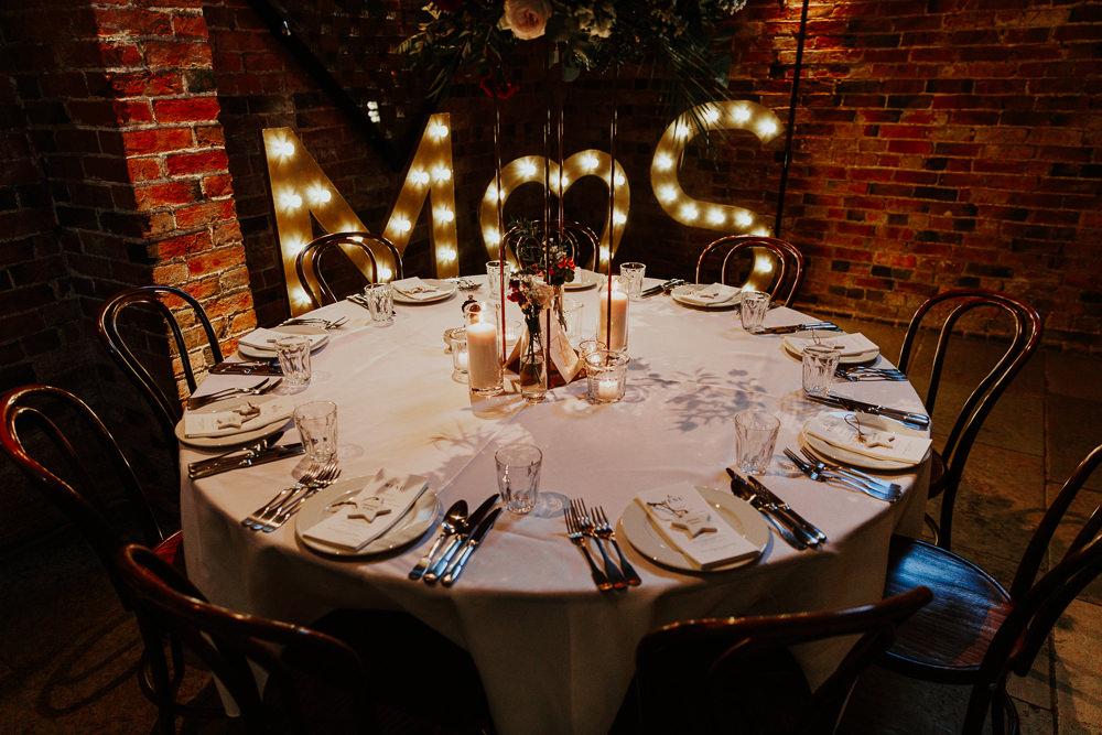 Letter Lights Sign Decor Shustoke Barn Wedding Oxi Photography