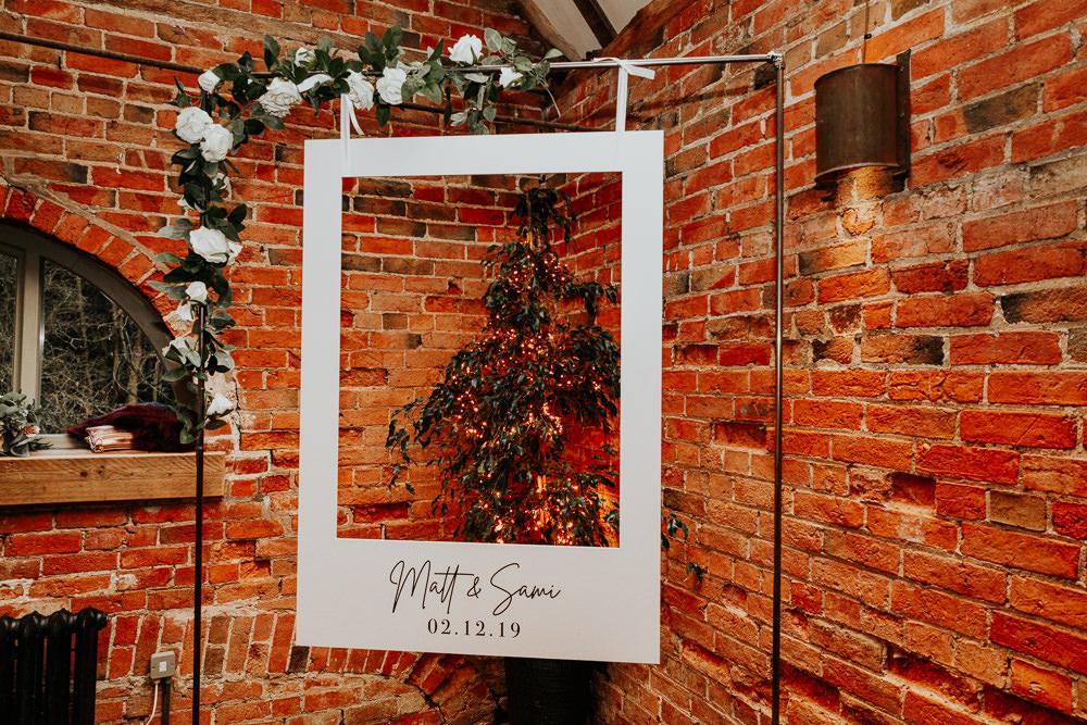 Cut Out Photo Booth Frame Shustoke Barn Wedding Oxi Photography