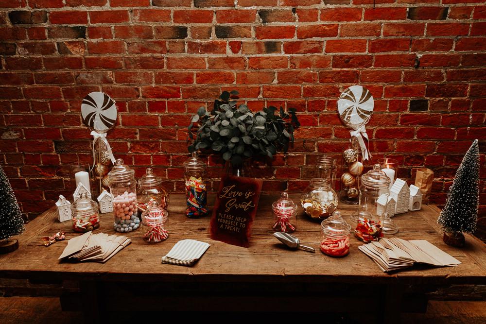 Sweets Sweetie Table Shustoke Barn Wedding Oxi Photography