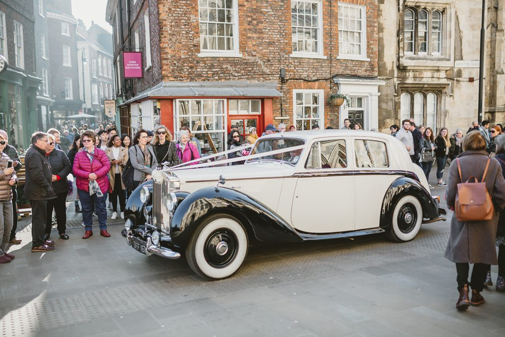 Classic Car Transport York Minster Wedding Amy Lou Photography