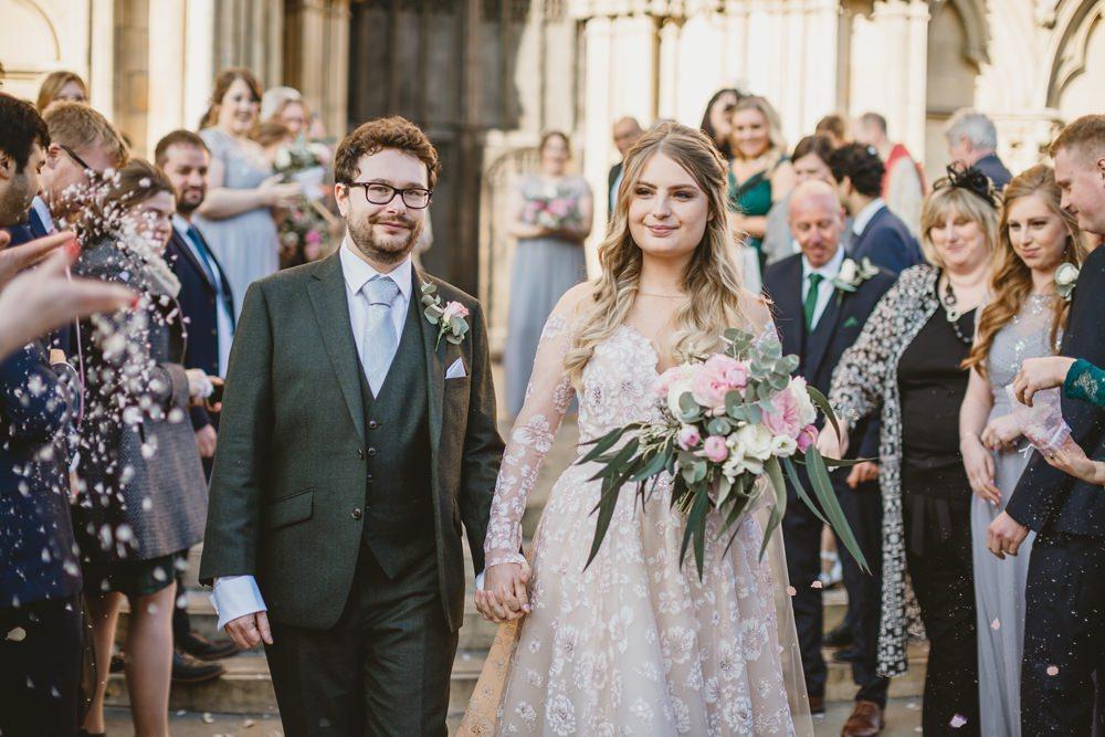 Confetti York Minster Wedding Amy Lou Photography