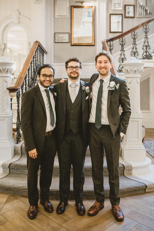 Groom Groomsmen Suits York Minster Wedding Amy Lou Photography