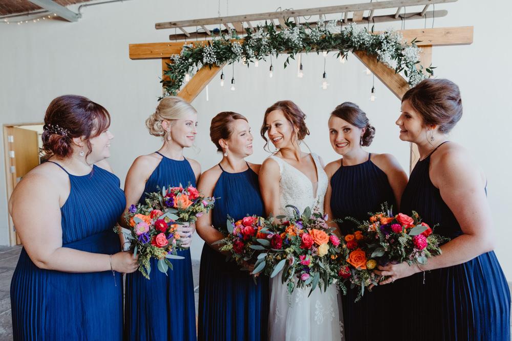Bridesmaids Bridesmaid Dress Dresses Blue Arches Dean Clough Wedding Stevie Jay Photography