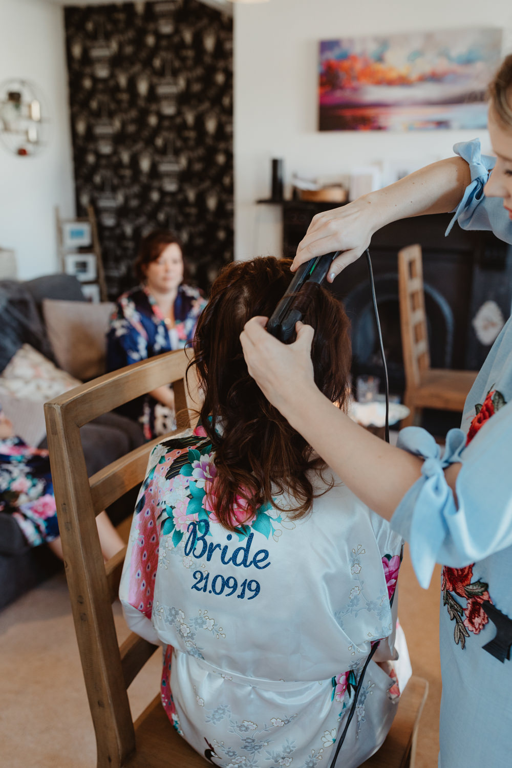 Bride Bridal Dressing Gown Robe Arches Dean Clough Wedding Stevie Jay Photography
