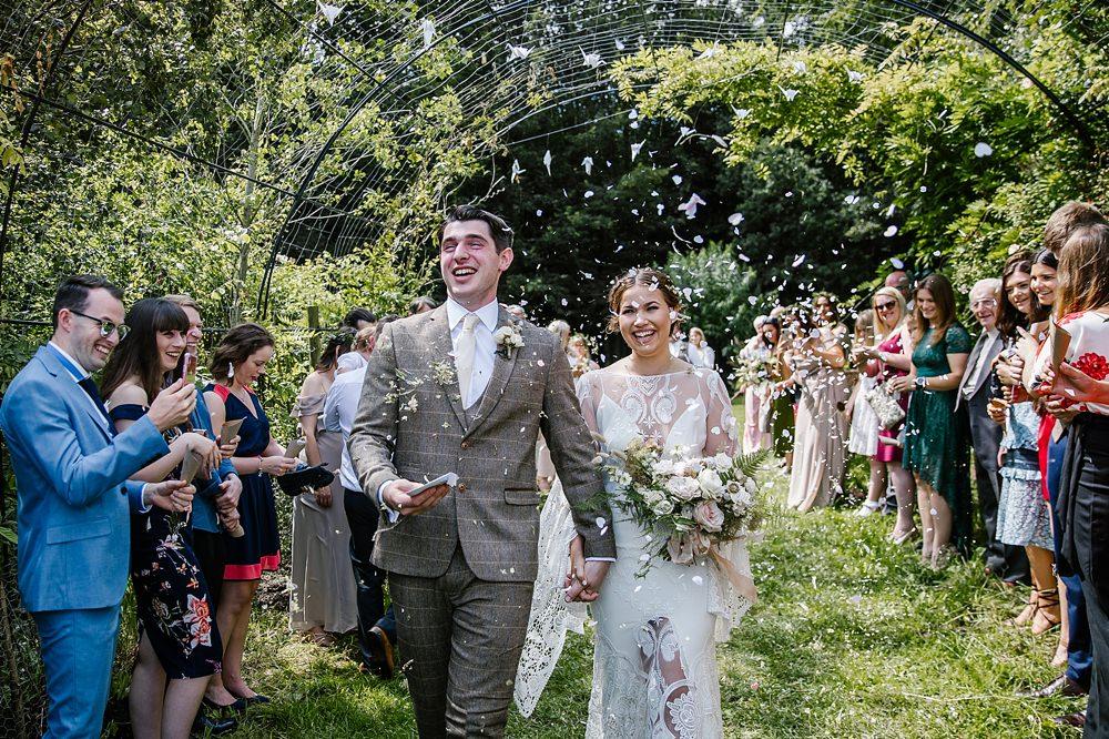 Confetti Chaucer Barn Wedding Katherine Ashdown Photography