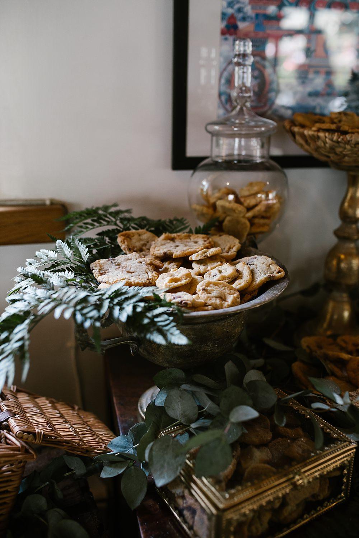 Cookie Table Treats Dessert Station Bar Chaucer Barn Wedding Katherine Ashdown Photography
