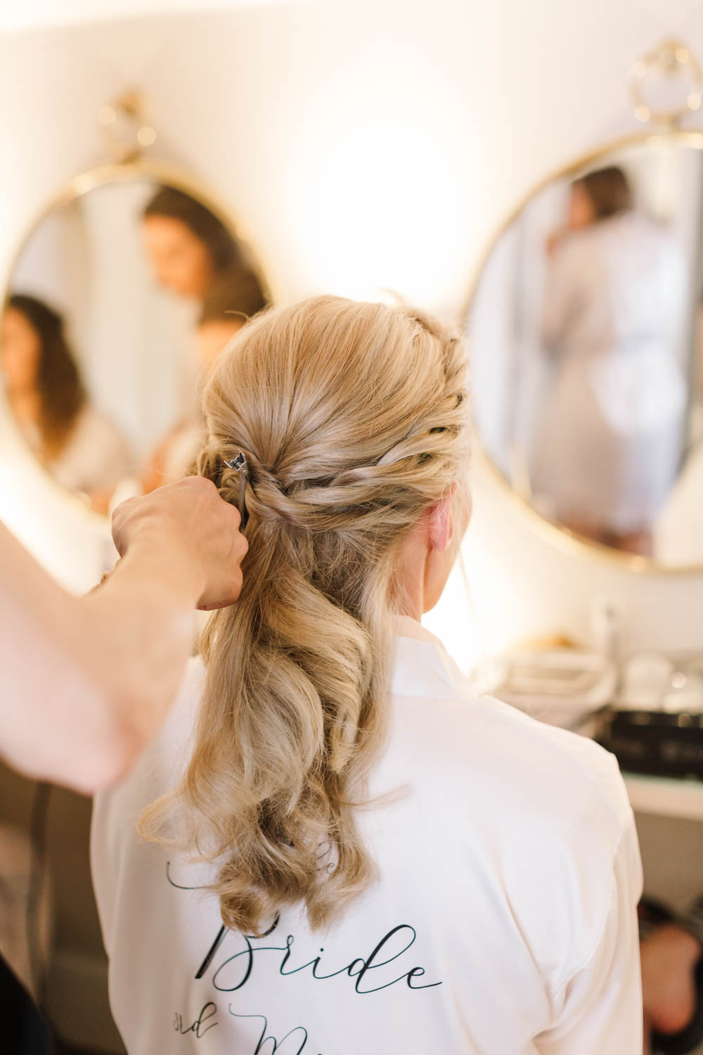 Bride Bridal Hair Style Up Do Plait Braid Accessory Dove Grey Wedding Danielle Smith Photography
