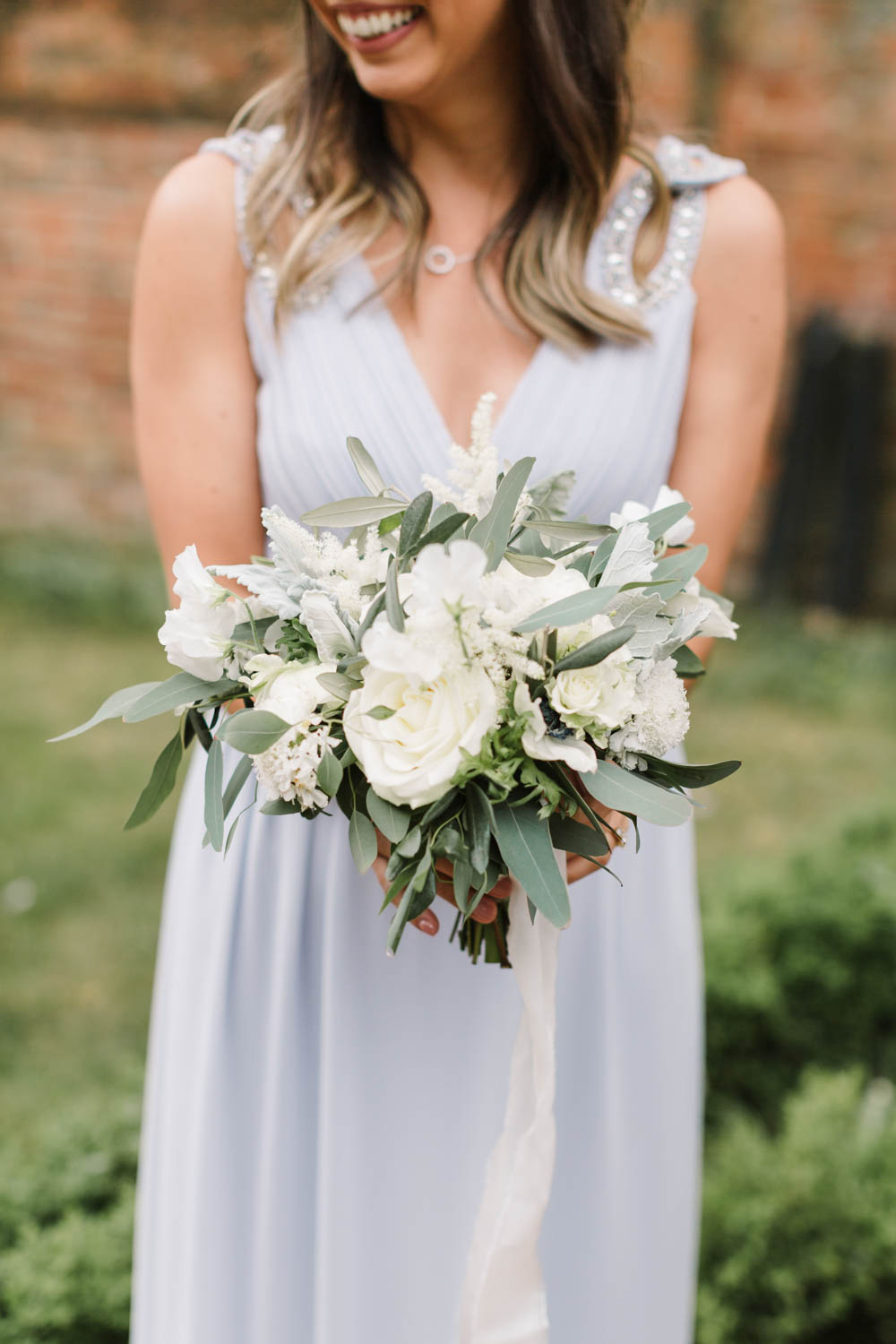 Bouquet Flowers Bride Bridal Olive Ranunculus Rose Anemone Astilbe Foliage Eucaluptus Dusty Miller Dove Grey Wedding Danielle Smith Photography