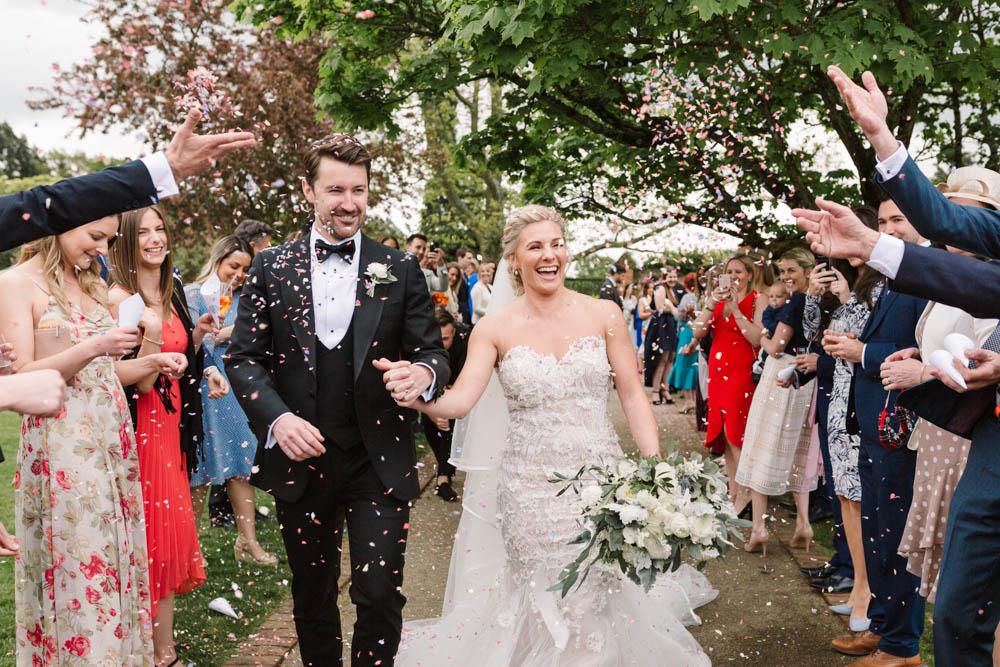 Confetti Dove Grey Wedding Danielle Smith Photography
