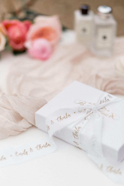 Present Gift Bride Bridal English Garden Wedding Inspiration Philippa Sian Photography