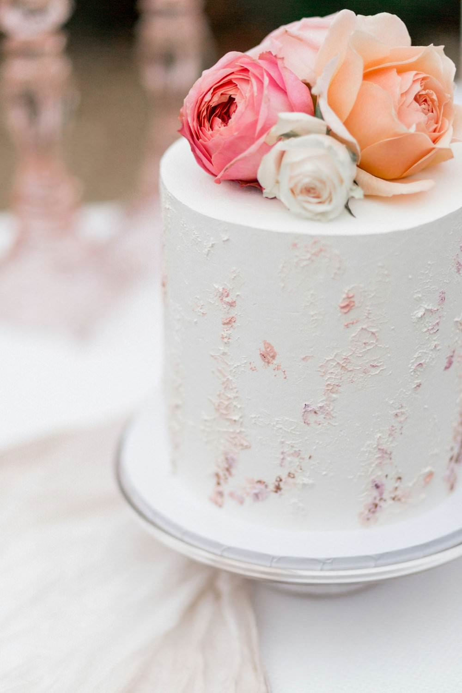 Buttercream Cake Texture Pastel Pink Coral Flowers English Garden Wedding Inspiration Philippa Sian Photography