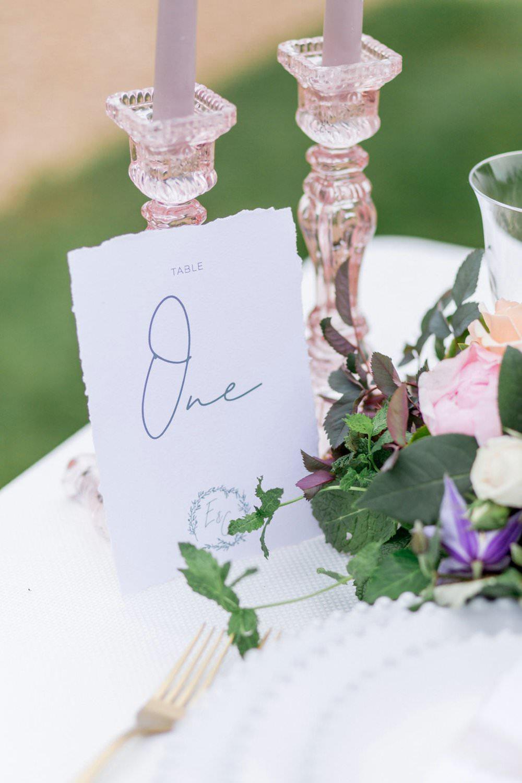 Calligraphy Table Number English Garden Wedding Inspiration Philippa Sian Photography