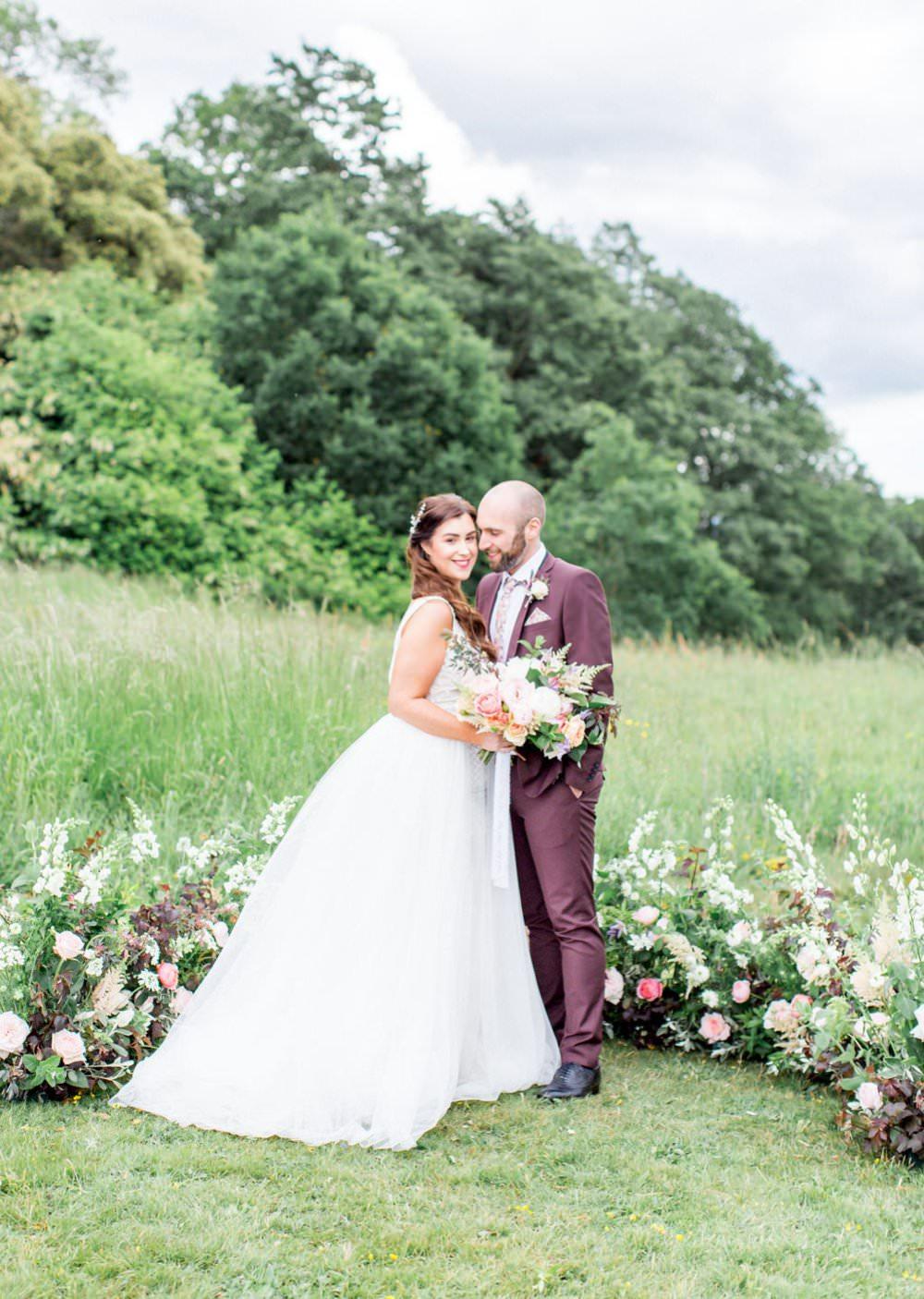 English Garden Wedding Inspiration Philippa Sian Photography Meadow Flowers Ceremony Backdrop Arrangement