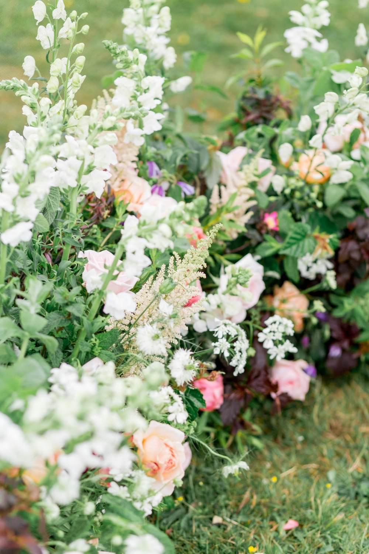 Meadow Flowers Ceremony Backdrop Arrangement English Garden Wedding Inspiration Philippa Sian Photography