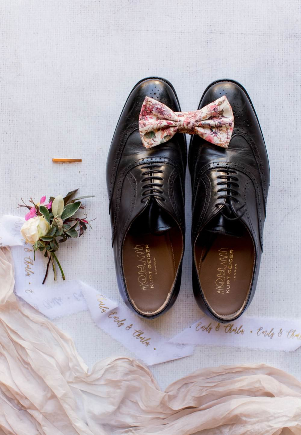 Groom Shoes Bow Tie Accessories English Garden Wedding Inspiration Philippa Sian Photography