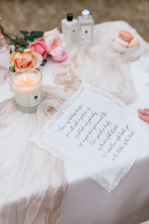Present Gift Bride Bridal Handkerchief English Garden Wedding Inspiration Philippa Sian Photography