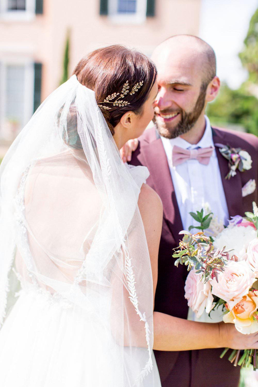 Bride Bridal Hair Style Up Do Veil Accessory English Garden Wedding Inspiration Philippa Sian Photography