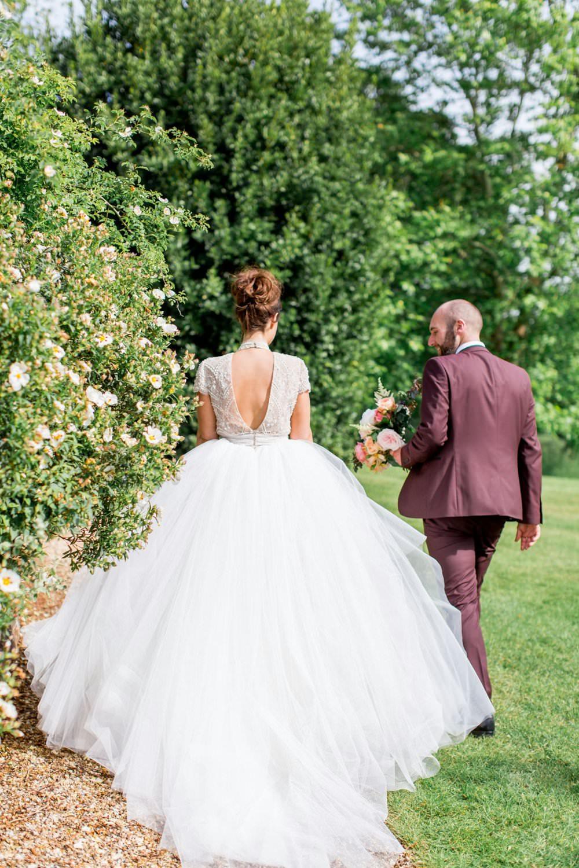 Princess Dress Gown Bride Bridal Sleeves English Garden Wedding Inspiration Philippa Sian Photography