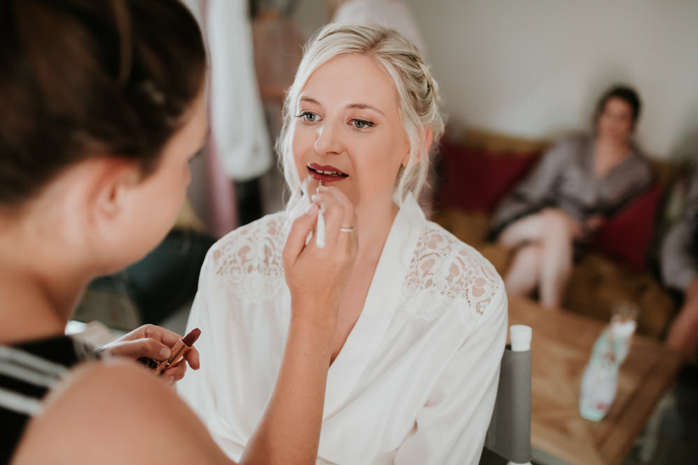 Bride Bridal Make Up Ferry House Inn Wedding Paul Fuller Kent Photography