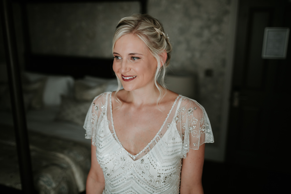 Bride Bridal Hair Make Up Ferry House Inn Wedding Paul Fuller Kent Photography