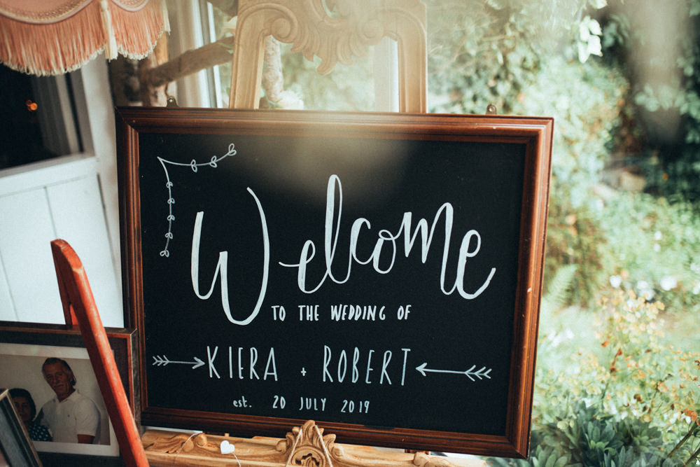 Welcome Sign Signs Signage Old Barn Wedding Joshua Rhys Photography