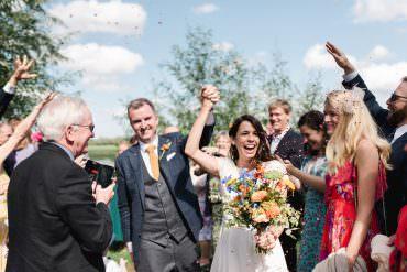 Confetti Throw Perch Inn Wedding Captured By Katrina