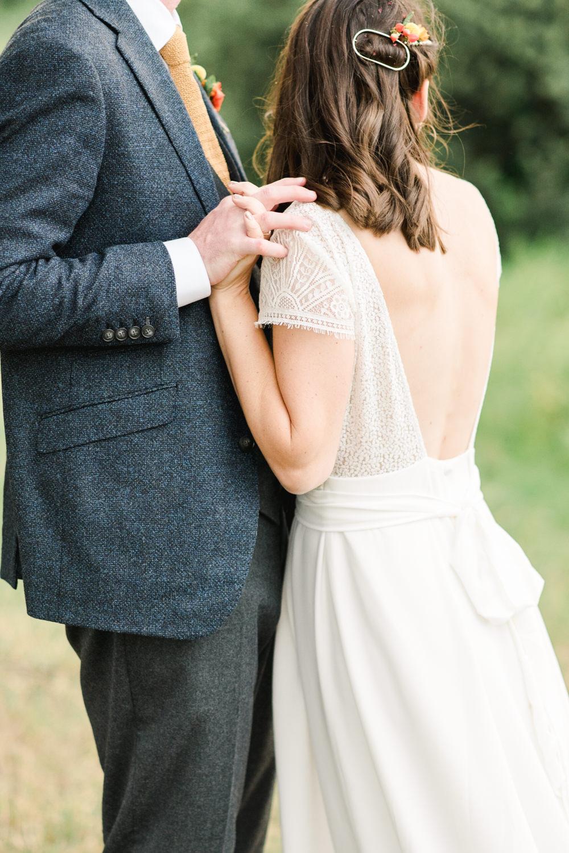 Dress Gown Bride Bridal Lorafolk Lace Silk Open Back Cap Sleeves Perch Inn Wedding Captured By Katrina