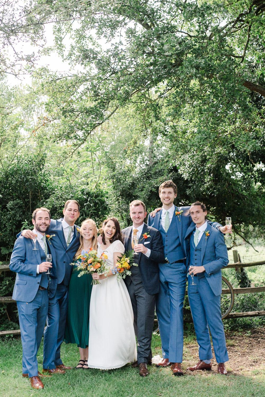 Groomsmen Navy Blue Suits Perch Inn Wedding Captured By Katrina