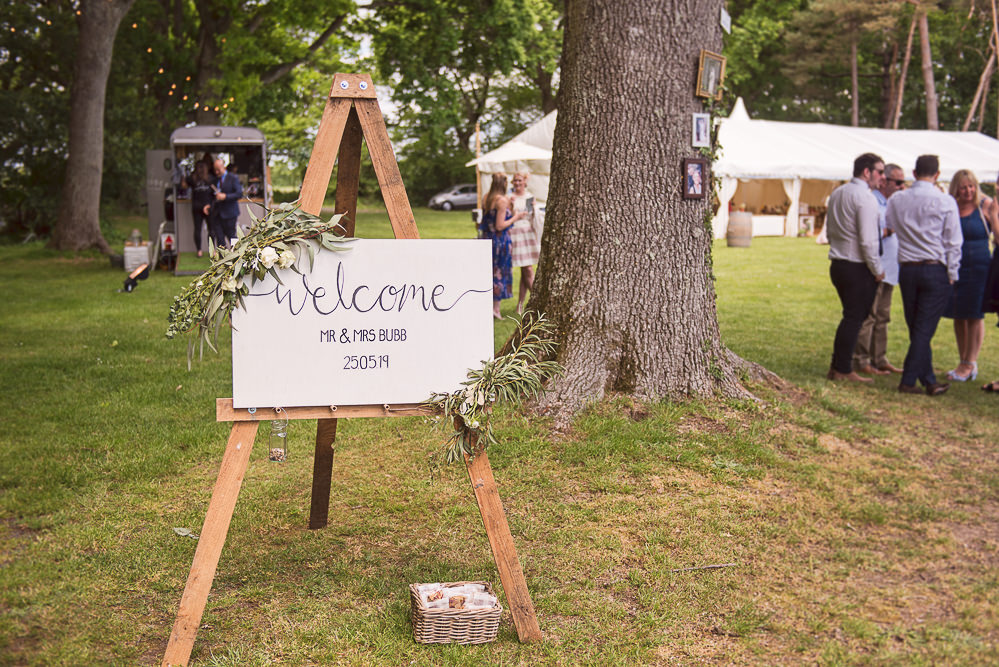 Welcome Sign Signs Signage Greenery Sopley Lake Wedding One Thousand Words