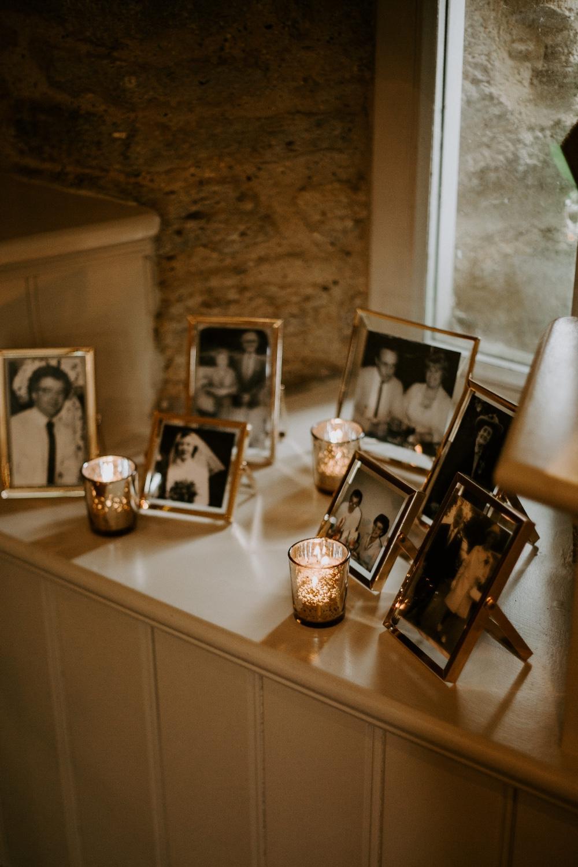 Family Photos Photographs Table Candles Wick Farm Bath Wedding Siobhan Beales Photography