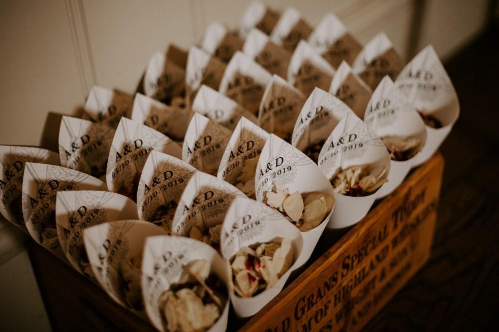Confetti Cones Petals Box Wick Farm Bath Wedding Siobhan Beales Photography