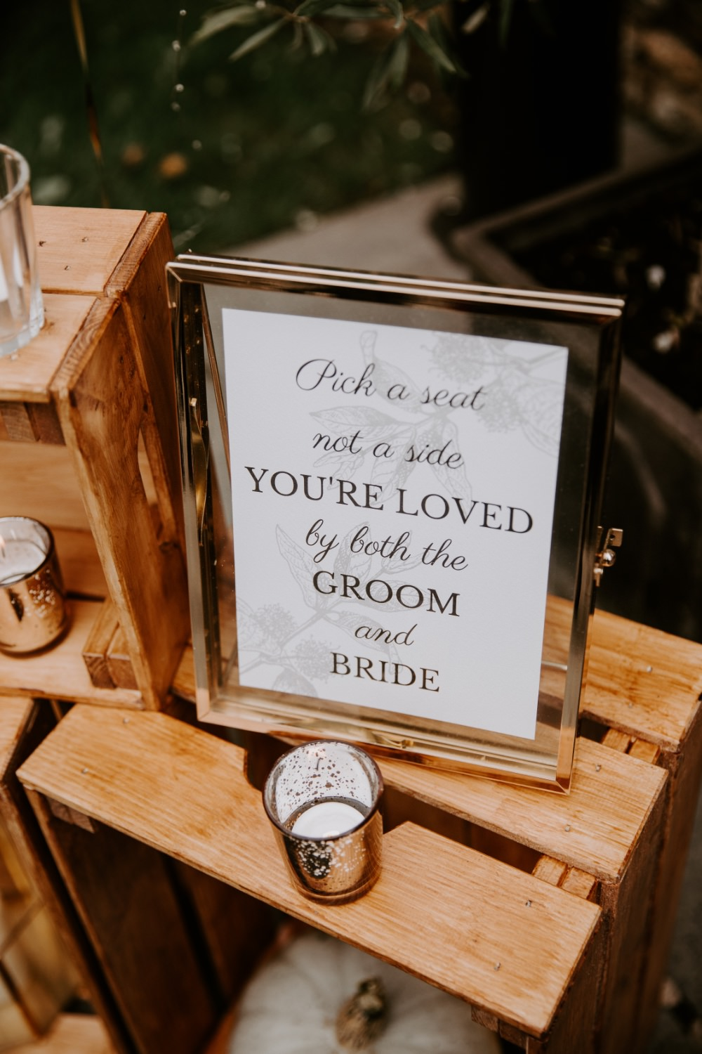 Welcome Sign Signs Signage Ceremony Wick Farm Bath Wedding Siobhan Beales Photography