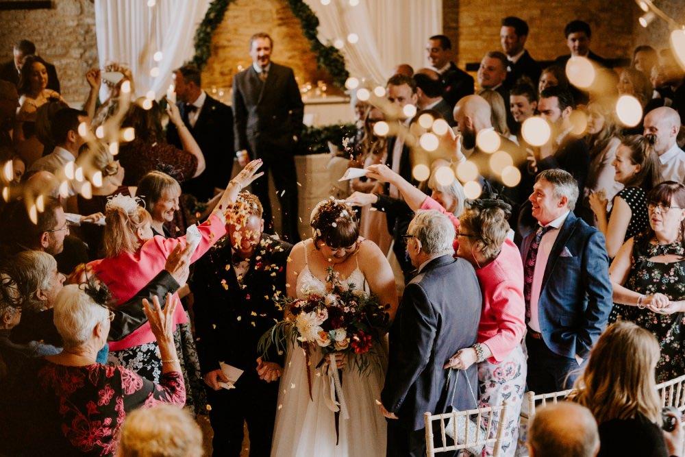 Confetti Wick Farm Bath Wedding Siobhan Beales Photography