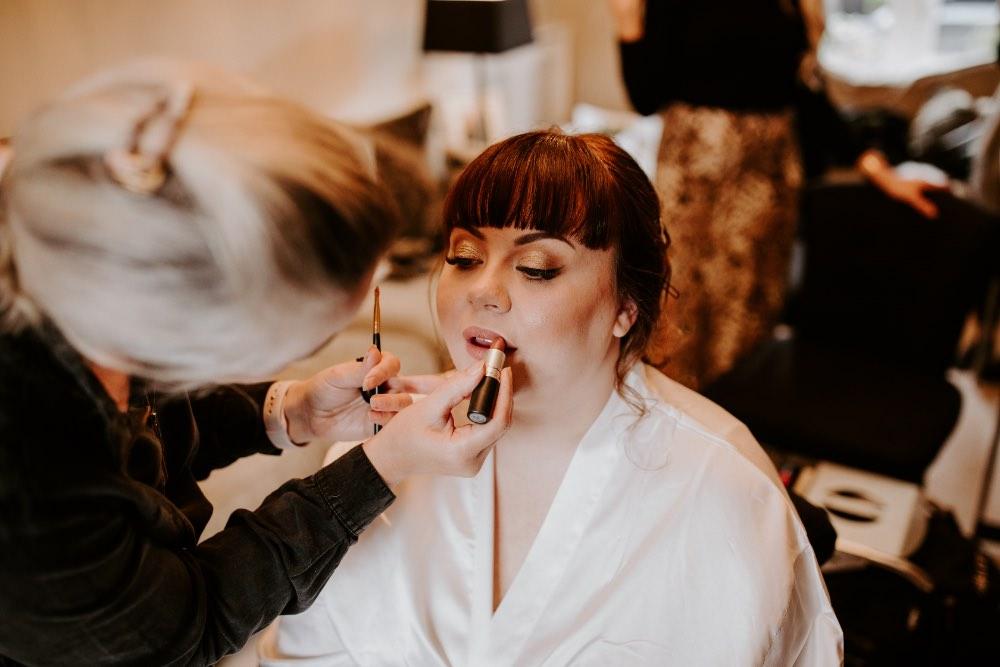 Bride Bridal Make Up Wick Farm Bath Wedding Siobhan Beales Photography