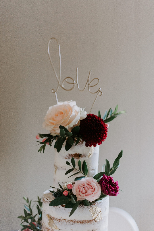 Semi Naked Cake Flowers Topper Wick Farm Bath Wedding Siobhan Beales Photography